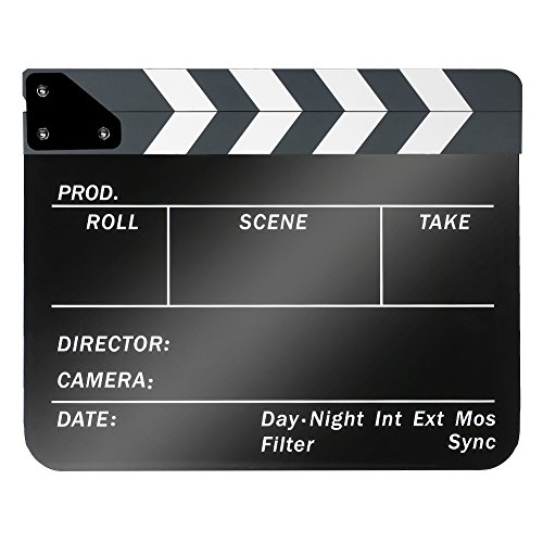 Neewer Acryl Kunststoff 25,4 x 30,5 cm/25 x 30 cm Dry Erase Director 's Film Movie 23.006 Cut Action Szene Klappen Schiefer mit Weiß/Schwarz Sticks