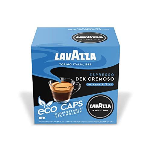 Lavazza A Modo Mio Espresso Dek Cremoso, Kaffee, Entkoffeiniert, Kaffeekapseln, Arabica, 64 Kapseln