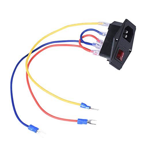 Balacoo Austausch Der Steckdose durch Sicherung Haltbarer Wippschalter 15A 110 / 220V Netzschalter Steckdose 3D-Druckerteile für 3D-Drucker