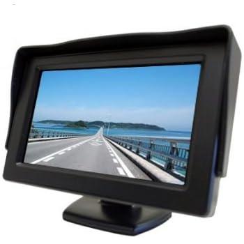 【ノーブランド品】2系統の映像入力 12V車用 ミニオンダッシュ液晶モニター 4.3インチ バック切替可能