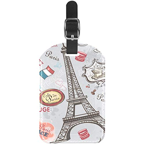 Windmill Travel Leather Luggage Tags Personalised for Suitcases Funny Mini Baggage tag Business Card Holder/Travel Bag Tag 2.8x4.5in