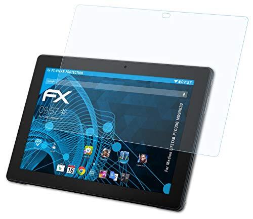 atFolix Schutzfolie kompatibel mit Medion LIFETAB P10356 MD99632 Folie, ultraklare FX Bildschirmschutzfolie (2X)