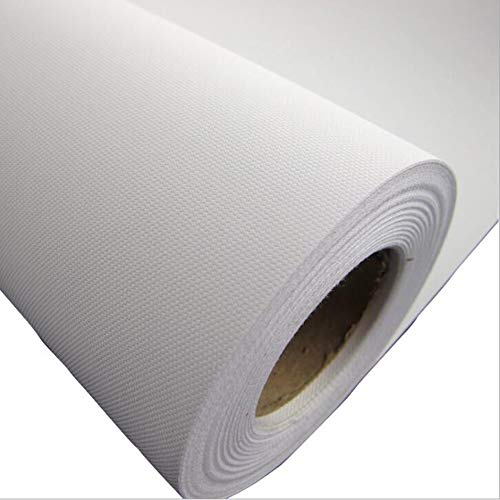 Premium Matte Polyester Canvas Roll for Wide Format Inkjet Printing,100% Polyester Canvas Roll(24 in x 98.4 Ft 1 Roll)