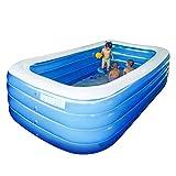 Maoviwq Piscina al aire libre 305cm 4 capas de la familia inflable piscina PVC interior para niños adultos natación para interior exterior piscina fiesta