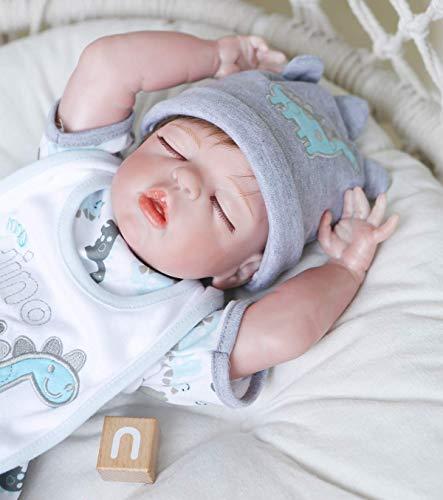 Zero Pam 20 inch Reborn Baby Dolls Silicone Full Body Washable Reborn Dolls Newborn Preemie Toys Boys Sleeping Newborn Baby Dolls Anatomically Correct