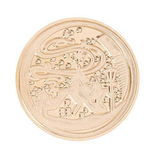 Juego de sellos de cera, sello de cera de sellado vintage, sello de sello de bricolaje reemplazar cabeza de cobre (MH04)