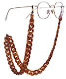 Sunglass Chain by popular San Francisco fashion blog, Just Add Glam: image of a brown chainlink sunglasses chain.