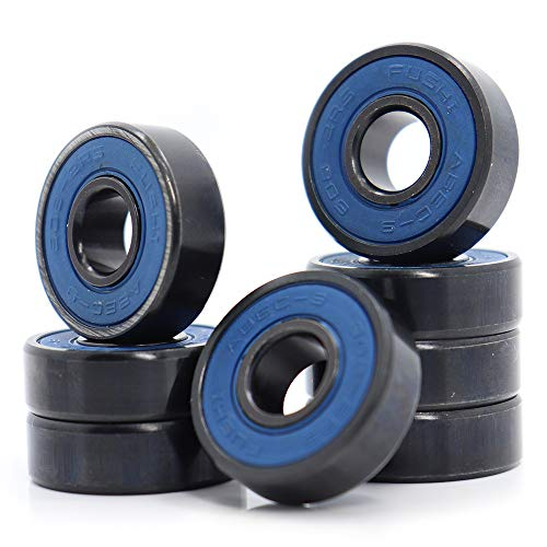 608-2RS Ball Bearing, 8x22x7mm ABEC-9 Blue Sealed with Grease Bearings, High Stability 608 RS for Skate (Pick of 8 Pcs)