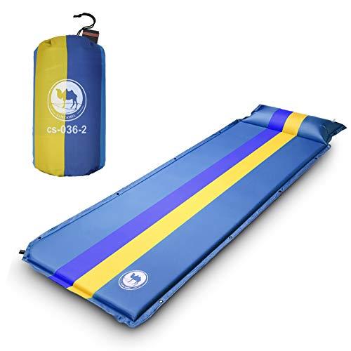 EKKONG Materassino da Campeggio, Ultraleggero & Portatile Sleeping Pad per Trekking/Campeggio/Escursione, Impermeabile, Anti-umidità, 190 x 68 x 3.5 cm (Blu)