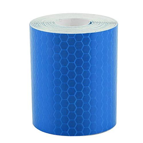 Adhesivo de seguridad práctico y duradero, ideal para bicicletas, camiones, remolques, botes para remolques, autos, bicicletas para conductores,(blue)