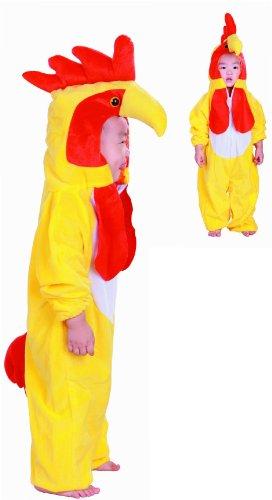 Fun Play Poulet Costume Enfant - Joli Costume d'animal et Combinaison pour Filles et garçons -Costumes pour Les Grands 5-7 Ans (122 CM)