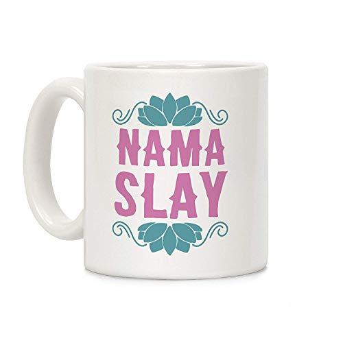 DKISEE Nama-Slay weiße Keramik-Kaffeetasse für Weihnachten, Thanksgiving, Festival, Freunde, Geschenk, 325 ml