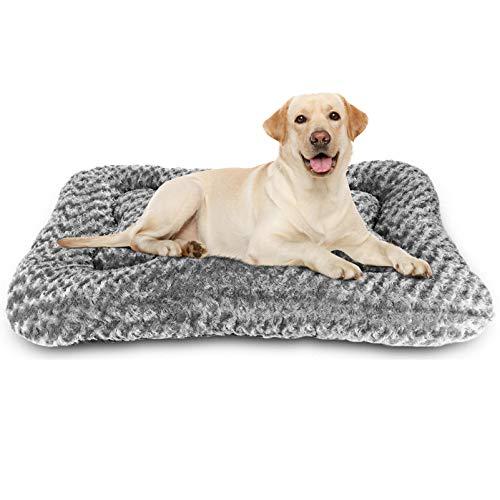 G.C Hundebett Grosse Hunde flauschig, Hundekissen orthopädisch waschbar Hundematte 100x70cm Plüsch Katzenbett Hundedecke für große mittlere kleine Hunde