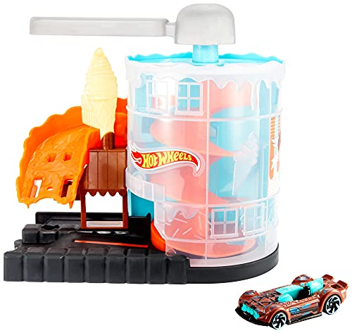 Hot Wheels Downtown Ice Cream Meltdown Playset
