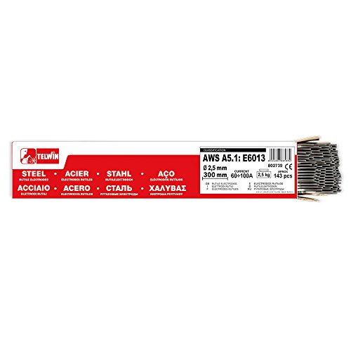 Telwin S.p.A. 802739 Rutilschweißelektroden Durchmesser 2,5 mm, 2,5 Kg, Grau, 143 Stück