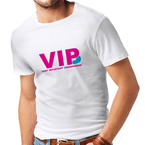 lepni.me Camisetas Hombre Bebedor de Cerveza Muy Importante - Alcohol, Borracho, Citas Divertidas para Beber - Ideas de Regalos chistosos, Ropa de Bar o de Fiesta (X-Large Blanco Magenta)