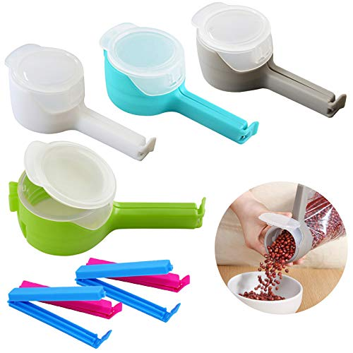 Bag Clips for Food Snack Food Sealing Clip Food Storage Sealing Clips with Pour Spouts Kitchen Chip Bag Clips Moisture Sealing Clamp for Kitchen Food Storage and Organization