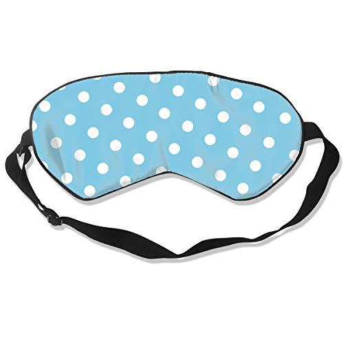 Oogmasker witte stip met blauw slaapmasker verstelbaar ademend slaapmasker slapende slaap ogen masker oogschaduw blinddoek
