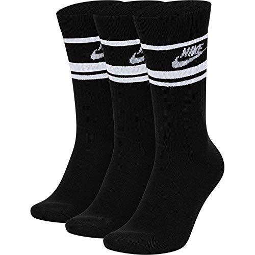 Nike Essential Crew Socks Socken 3er Pack (M, black/white)