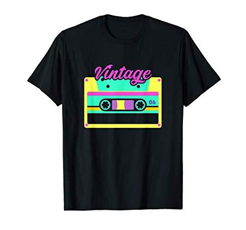 Casete Vintage 80s 90s Disco Costume Party Camiseta