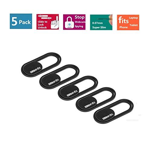 sunshot Webcam Cover 0.7mm Thin - Magnet Slider Kamera Abdeckung - Schützt Ihre Privatsphäre, stoppt Webcam Spionage, passt Smartphone Laptops Macbooks PCs Tablets und All-in-One-Desktops (5 Pack)