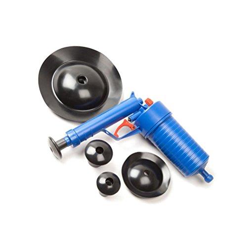 bestomz Abflussreiniger Pumpe–Pumpe Hochdruck Drain Buster WC Toilette Badewanne Waschbecken Abwasserkanal Hochdruckreiniger (blau)