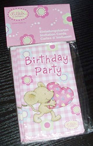 Riethmuller IF46361 - Lot de 6 Cartes Invitation et 6 enveloppes Lillebi