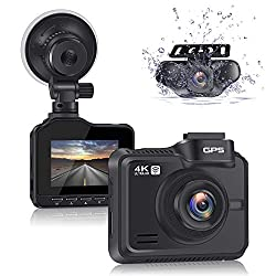 Lifechaser Dual Dash Cam 4K+1080P Front and Rear Car Camera