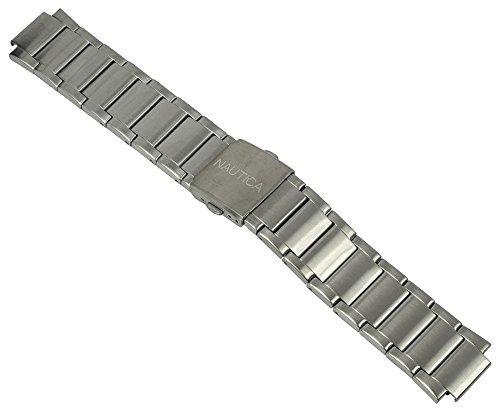 Nautica Uhrenarmband Edelstahl Band silbern A16654G / NST 700 / Ø 45mm / 28490