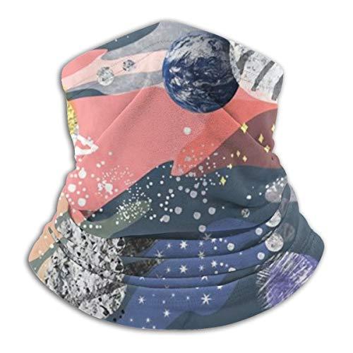 Sturmhaube, Sturmhaube, Halbmaske mit Galaxie-Druck, Fleece, winddicht, für Damen und Herren