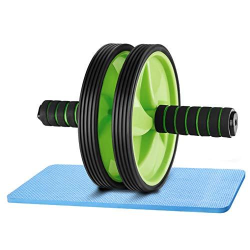 4MA Bauchroller mit Knieschoner für Bauchmuskel Workout Rollout Übung Doppelrollen Set Krafttraining Ab-Roller Ab Trainer Bauchtrainer