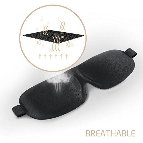 Plemo Sleep Mask for Men Women, Ultra Soft Block Out 3D Eye Cover, Breathable & Pressure-Free, for Travel, Bedtime, Naps
