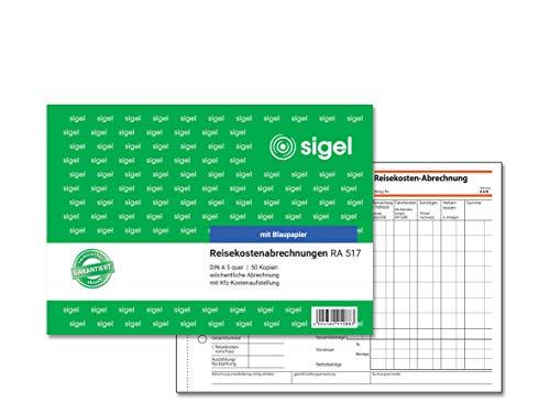 SIGEL RA517 Reisekostenabrechnung wöchentlich, A5 quer, 50 Blatt