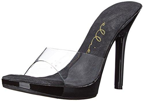 Ellie Shoes Women's 502-vanity, Clear/Black, 7 M US