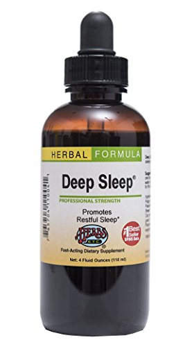 Deep Sleep - Natural Herbal Sleep Aid Supplement - Non-Habit Forming - All Natural Sleep Remedy - 4 oz Liquid Extract (Contains Fresh Extracts of California Poppy, Valerian, Passionflower, Chamomile, Lemon Balm