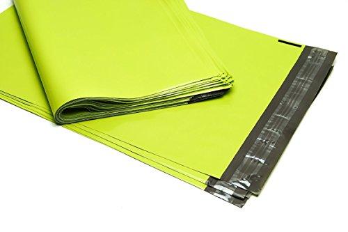 100 Folienmailer® Versandbeutel Neon-Grün 300 x 410 mm: Farbige Plastik Versandtaschen, selbstklebend und blickdicht, Versandtüten aus LDPE Coex Folie, perfekt zum Versand von Kleidung und Textilien