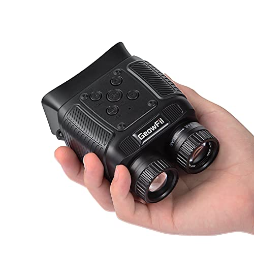Night Vision Binoculars, MINI Digital Night Vision Goggles for 100% Darkness, with 8x Digital Zoom 2000mAh Battery, Save Photos&Video with Audio for Adult Hunting Spy Military Security, 32GB Card