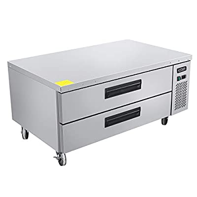 Commercial 2 Drawer Refrigerated Chef Base - KITMA 48 Inches Stainless Steel Chef Base Work Table Refrigerator - Kitchen Equipment Stand, 33 °F - 38°F