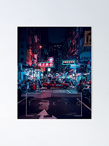 AZSTEEL Neon Night Signs and Lights from Tokyo Japan Poster | Best Gift for Family and Your Friends 12x17 Inch