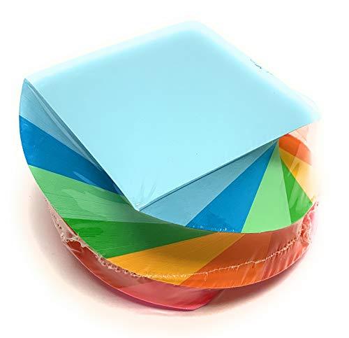 Mintra Office Memo-Block, Notizblock, Papier für Notizen und Erinnerungen, Arbeit, Business, Schreibtisch, Schule, Organisation, Planung Twirl Pad 600ct - Bright