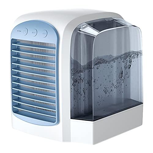 Raffreddatore D'aria Portatile, Condizionatore D'aria Da Scrivania Personale, Ventola Di Raffreddamento A 3 Velocità Del Vento Con Serbatoio Dell'acqua Da 380 Ml,Blu