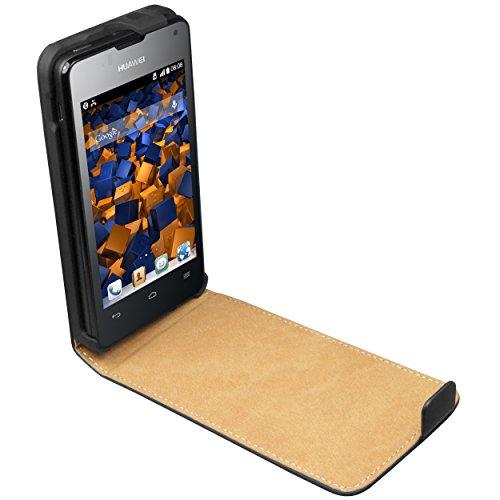 mumbi Tasche Flip Case kompatibel mit Huawei Ascend Y300 Hülle Handytasche Case Wallet, schwarz - 2
