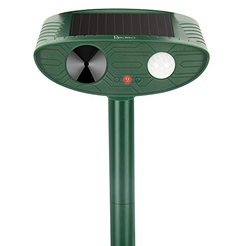 Redeo Outdoor Solar Ultrasonic Cat Repellent Animal Repeller Dog Deer Deterrent Scarecrow for Garden Yard with Motion Sensor - Scare Birds Away