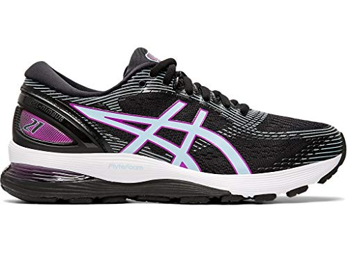 ASICS Women's Gel-Nimbus 21 Running Shoes, 9.5M, Black/Skylight