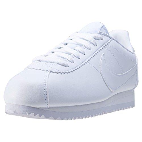 Nike Wmns Classic Cortez Leather, Zapatillas Mujer, Blanco (White/White 102), 40 EU