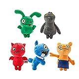 whbage Juguete de peluche 18 cm 5pcs juguete de peluche de dibujos animados animado suave peluche muñecas regalos para niños regalo