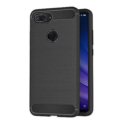 AICEK Funda Xiaomi Mi 8 Lite, Negro Silicona Fundas para Xiaomi 8 Lite Carcasa Xiaomi Mi 8 Lite Fibra de Carbono Funda Case (6,26 Pulgadas)