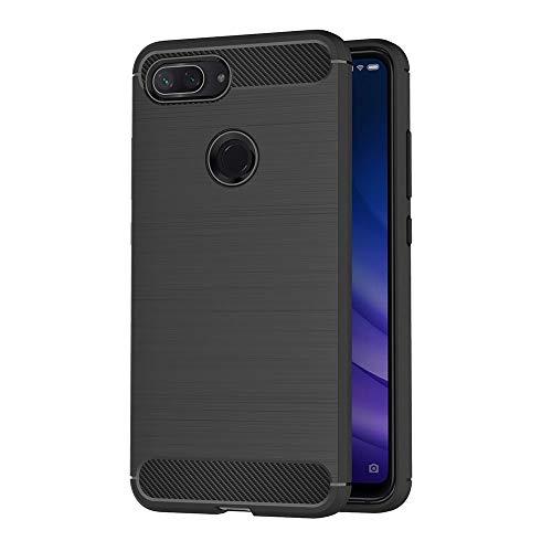 AICEK Compatible Xiaomi Mi 8 Lite Hülle, Schwarz Silikon Handyhülle für Xiaomi 8 Lite Schutzhülle Karbon Optik Soft Hülle (6,26 Zoll)