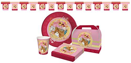 Bibi & Tina 31teilig 31-teiliges Partypaket, Pappe/Papier, Bunt, 30,3 x 22,5 x 8,3 cm