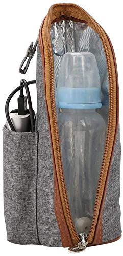 XIAOLINGTONG Calentador de botella de leche de bebé portátil USB calentador taza de viaje calentador de leche botella de alimentación calentador bolsa de almacenamiento para